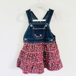 Osh Kosh B'Gosh Vestbak Denim Overalls Dress